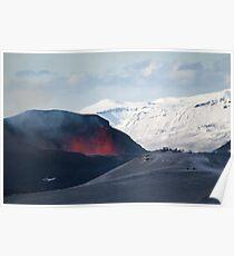 Fimmvörðuháls eruption Poster