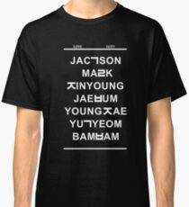 love got7 black Classic T-Shirt