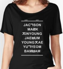 love got7 black Women's Relaxed Fit T-Shirt