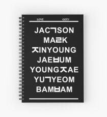 love got7 black Spiral Notebook