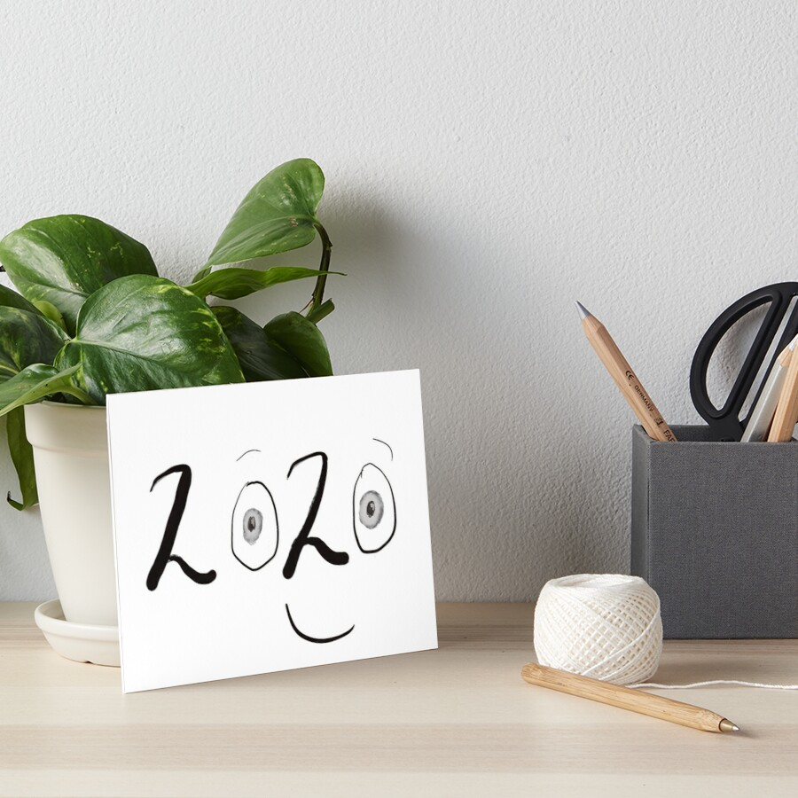 2020 Graphic With Eyes & a Smile Art Board Print