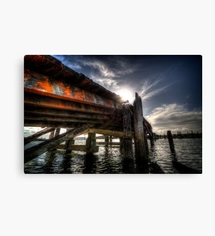 Broken Down Dock in Daylight Canvas Print