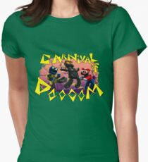 Carnival of Doooom w/Text Womens Fitted T-Shirt