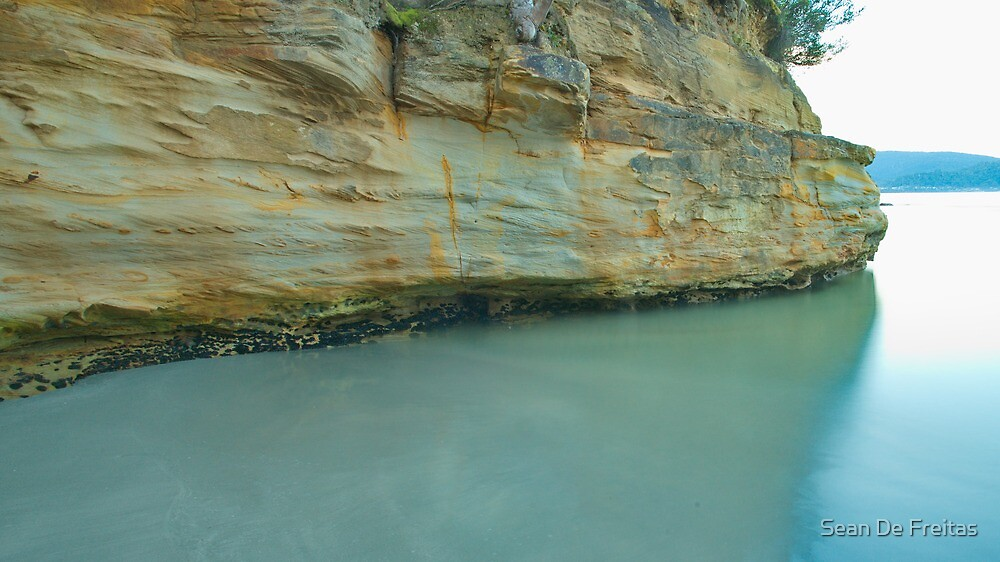 Sandstone Cliff face - Quiet Corner, Bruny Island by PC1134