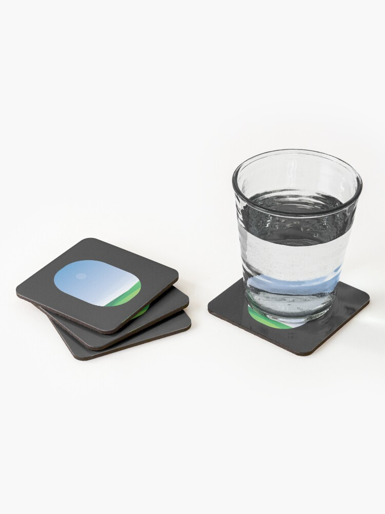 Alternate view of A green landscape as seen from the airplane window Coasters (Set of 4)
