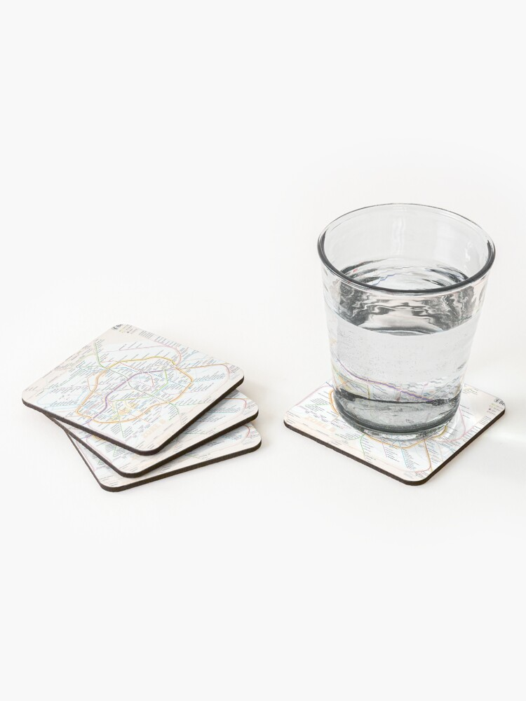 Alternate view of New Berlin rapid transit route map (December 15, 2019) Coasters (Set of 4)