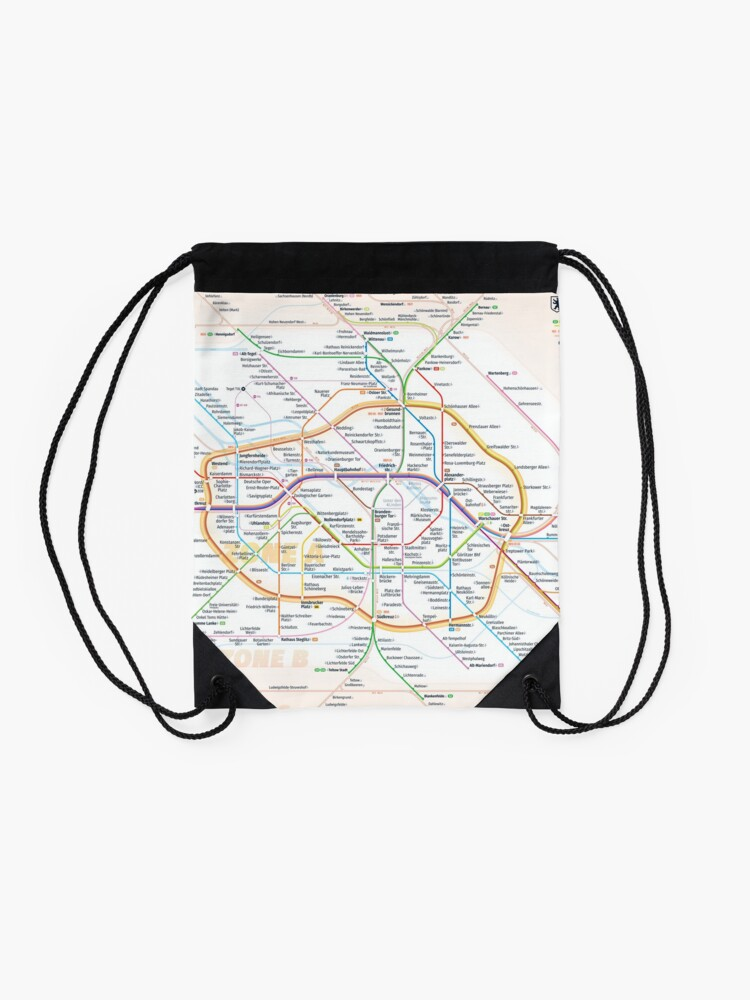Alternate view of New Berlin rapid transit route map (December 15, 2019) Drawstring Bag