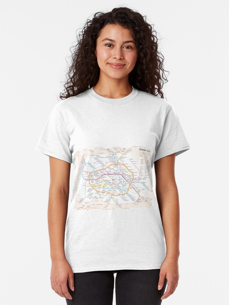 Alternate view of New Berlin rapid transit route map (December 15, 2019) Classic T-Shirt