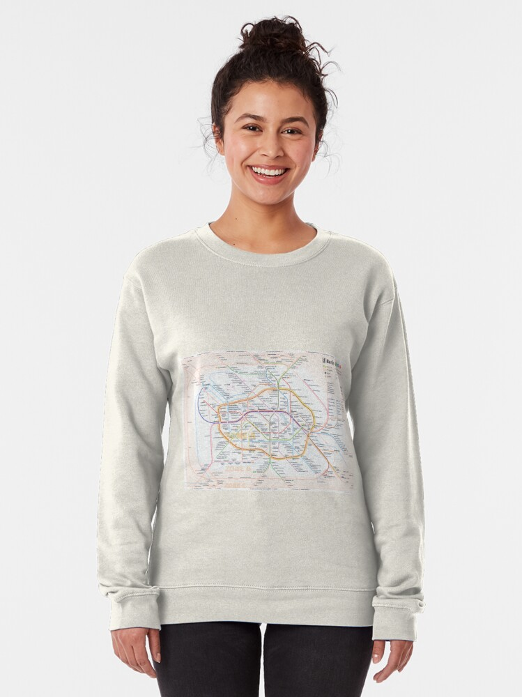 Alternate view of New Berlin rapid transit route map (December 15, 2019) Pullover Sweatshirt
