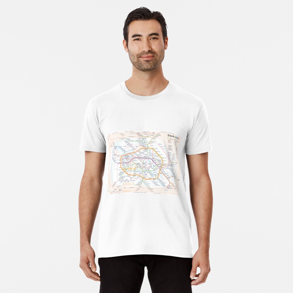 New Berlin rapid transit route map (December 15, 2019) Premium T-Shirt