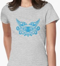 Zodiac Sign Cancer Blue Womens Fitted T-Shirt