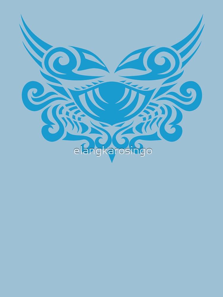 Zodiac Sign Cancer Blue by elangkarosingo