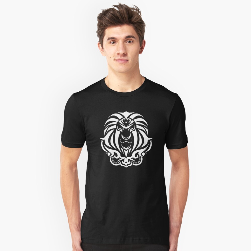 Zodiac Sign Leo White Unisex T-Shirt Front