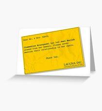 Lacuna Reminder Greeting Card