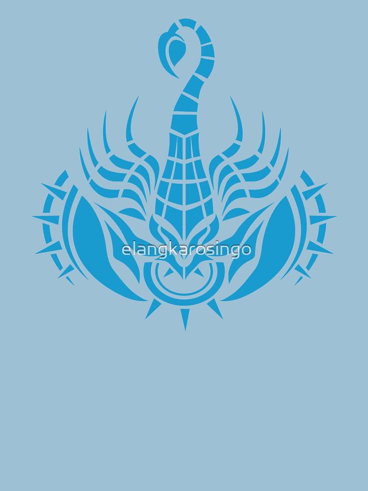 Zodiac Sign Scorpio Blue by elangkarosingo