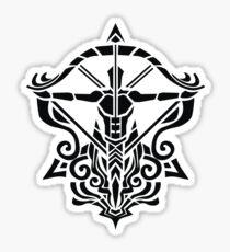 Zodiac Sign Sagitarius Black  Sticker