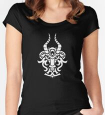 Zodiac Sign Capricorn White Women's Fitted Scoop T-Shirt