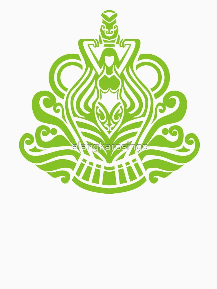 Zodiac Sign Aquarius Green by elangkarosingo