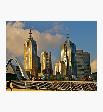 Evening skyline, Melbourne, Australia. Photographic Print