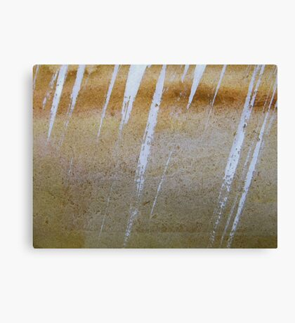 squall..... crystal rain on desert rock Canvas Print