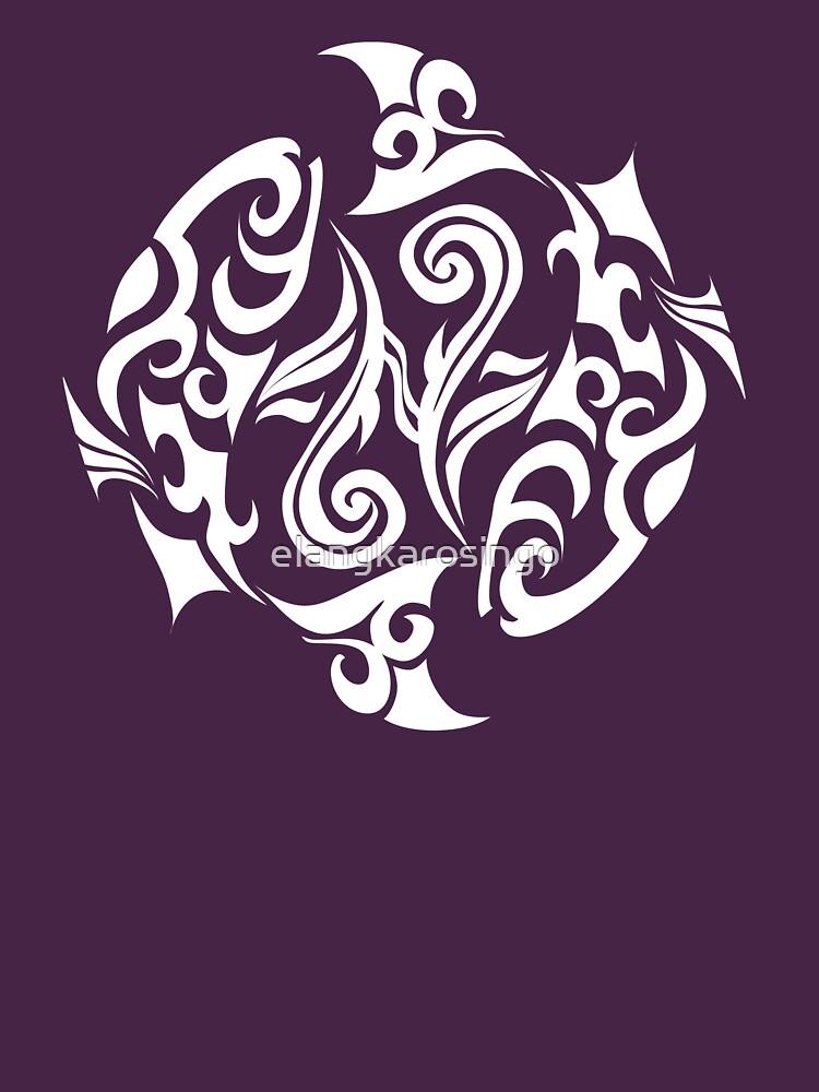 Zodiac Sign Pisces White by elangkarosingo