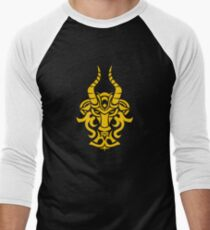 Zodiac Sign Capricorn Gold Men's Baseball ¾ T-Shirt