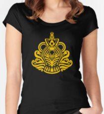 Zodiac Sign Aquarius Gold Women's Fitted Scoop T-Shirt