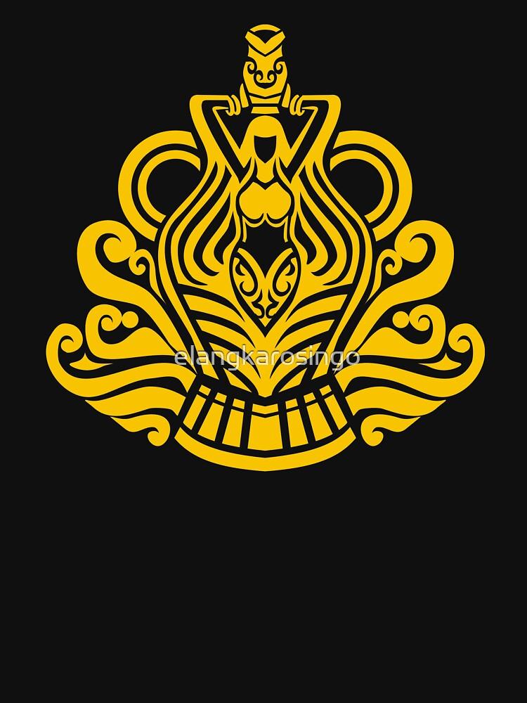 Zodiac Sign Aquarius Gold by elangkarosingo