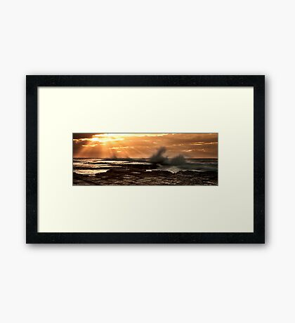 Sunrise at Turimetta Framed Print