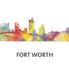 Fort Worth, Texas Skyline WB1 von Marlene Watson