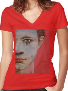 Young Mercury Women's Fitted V-Neck T-Shirt