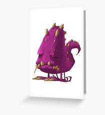 Monster-pixel Greeting Card