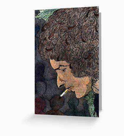 36 - BOB DYLAN - DAVE EDWARDS - COLOURED PENCILS & INK - 1981 Greeting Card