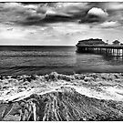 Across The Beach and Sea to Cromer Pier by Peter Tachauer