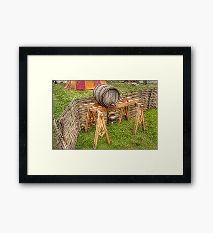 Barrel And Stand Framed Print
