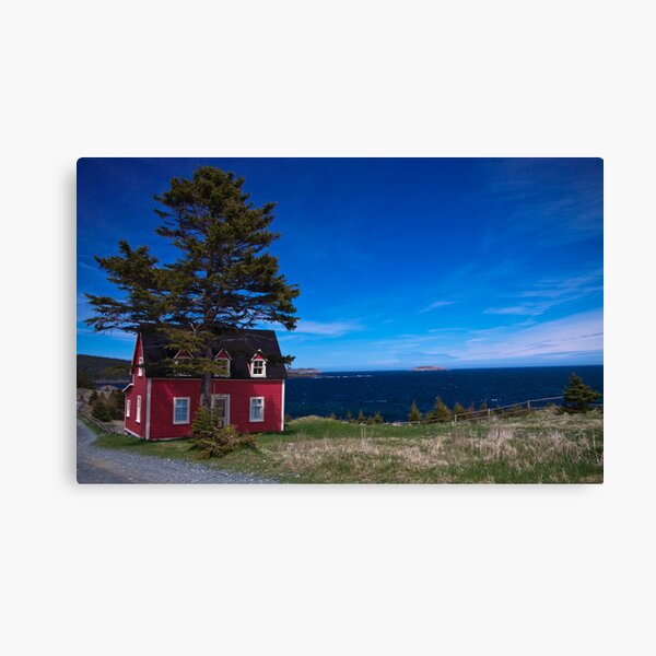 Little Red House in Tors Cove Canvas Print