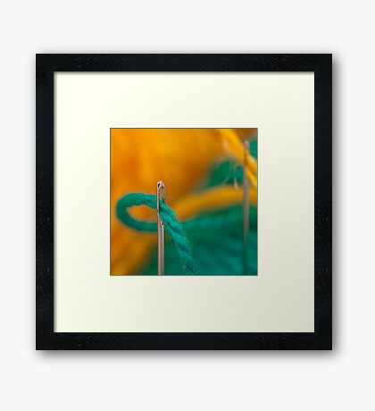 Study of Needle and Thread-2/2011 Framed Print