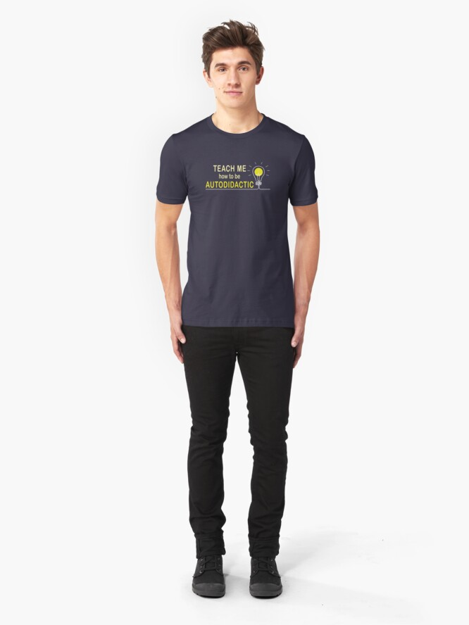 Alternate view of Autodidactic. Slim Fit T-Shirt