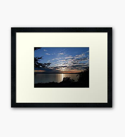 A Late Spring Sunset Framed Print