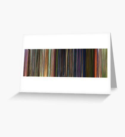 Moviebarcode: Toy Story 3 (2010) Greeting Card