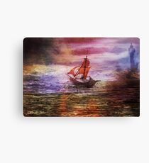 Against the fall of night Canvas Print