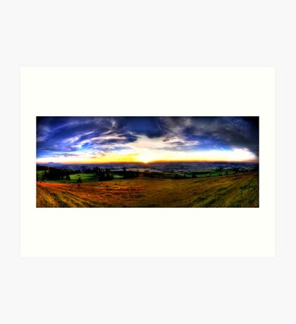 Zugerberg Sunset HDR Panorama Art Print