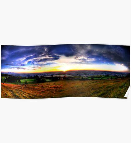 Zugerberg Sunset HDR Panorama Poster