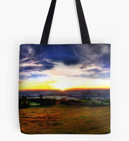 Zugerberg Sunset HDR Panorama Tote Bag