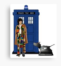 The Doctor and K-9 Canvas Print