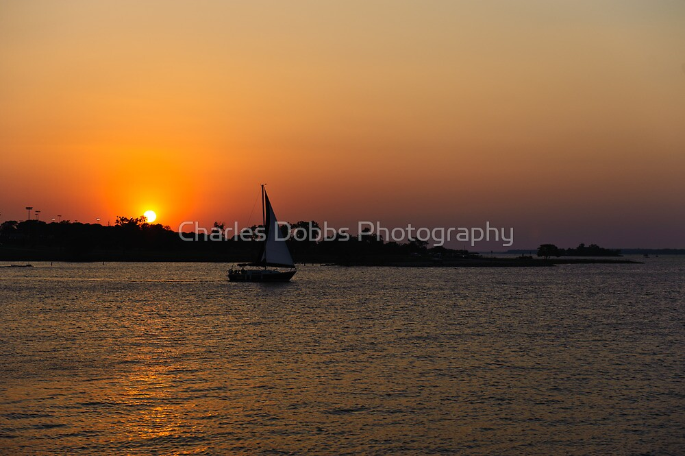 Sunset Sail by Charles Dobbs Photography