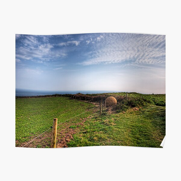 """An """"Alderney Stone"""" - Andy Goldsworthy Poster"""