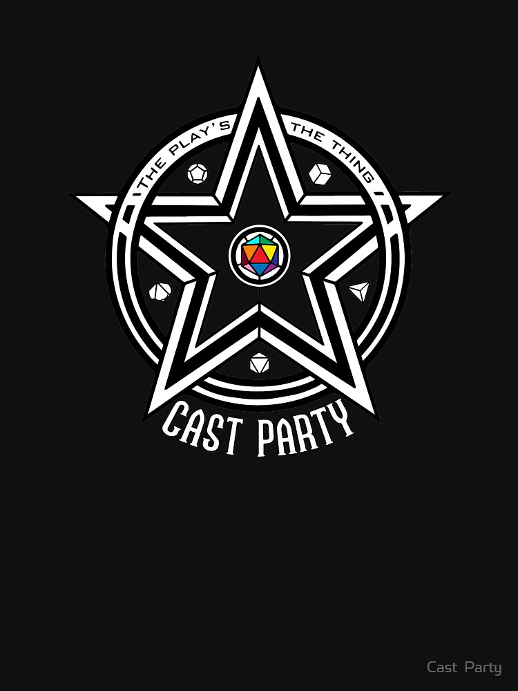 Cast Party Logo (for dark backgrounds) by CPNat20