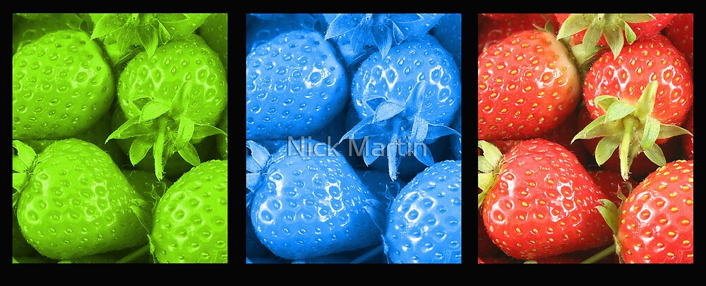 Colour Strawberries by Nick Martin
