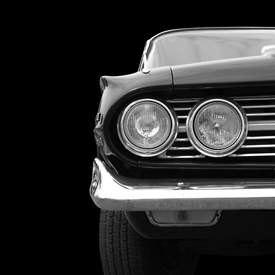 Classic Car (black&white) by Beate Gube